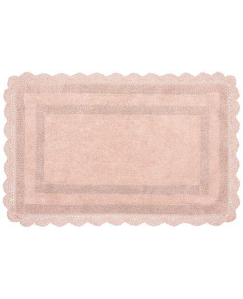 "French Connection Laura Ashley Crochet Cotton Reversible 17"" x 24"" Bath Rug"