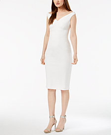 Calvin Klein Wide Sweetheart-Neck Sheath Dress