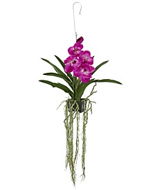41'' Artificial Vanda Orchid Hanging Basket