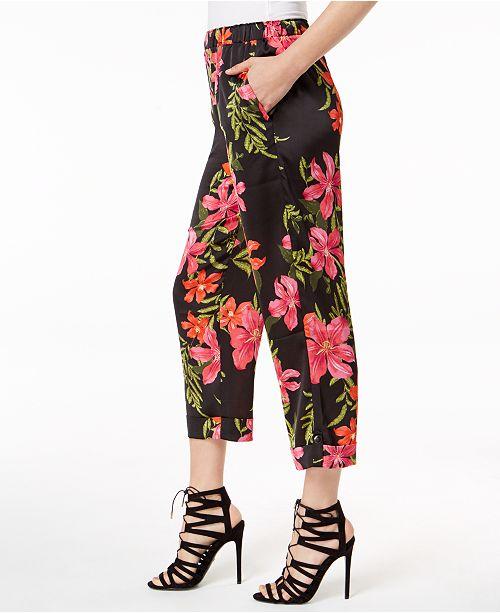 03befda7586078 GUESS Phoenix Floral-Print Capri Pants & Reviews - Leggings & Pants ...