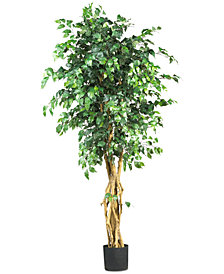 Nearly Natural 6' Artificial Palace-Style Ficus Tree