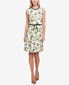 Tommy Hilfiger Bow-Belt Fit & Flare Dress