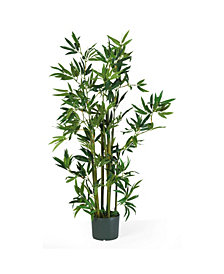 Nearly Natural 4' Artificial Bamboo Plant