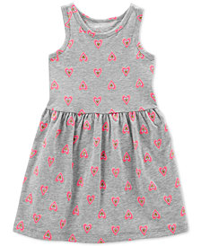 Carter's Little & Big Girls Heart-Print Cotton Tank Dress