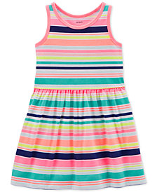Carter's Toddler Girls Striped Cotton Tank Dress