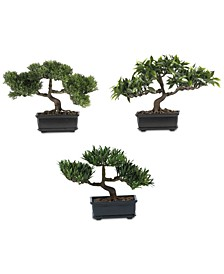 Artificial Bonsai Collection, Set of 3