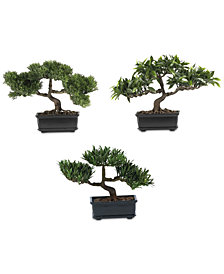 Nearly Natural Artificial Bonsai Collection, Set of 3