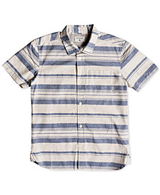 Quiksilver Striped Cotton Shirt, Big Boys