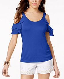 Thalia Sodi Cold-Shoulder Top, Created for Macy's