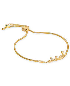 kate spade new york Gold-Tone Duck Slider Bracelet