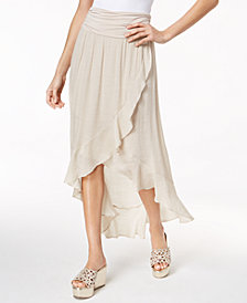 Thalia Sodi Ruffled High-Low Maxi Skirt, Created for Macy's