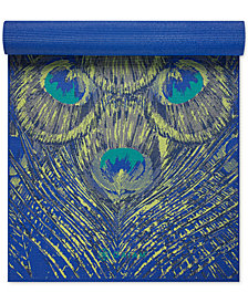 Gaiam Sapphire Feather Printed 5mm Yoga Mat