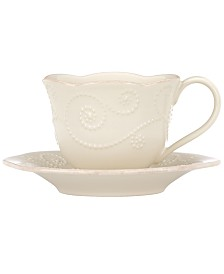Lenox Dinnerware, French Perle Cup and Saucer Set