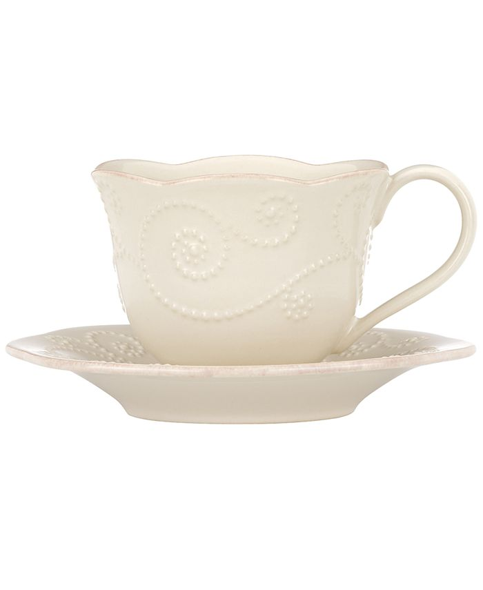 Lenox - French Perle White Cup and Saucer Set