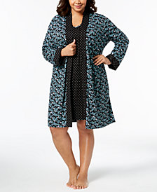 Charter Club Plus Size 2-Piece Travel Set, Created for Macy's