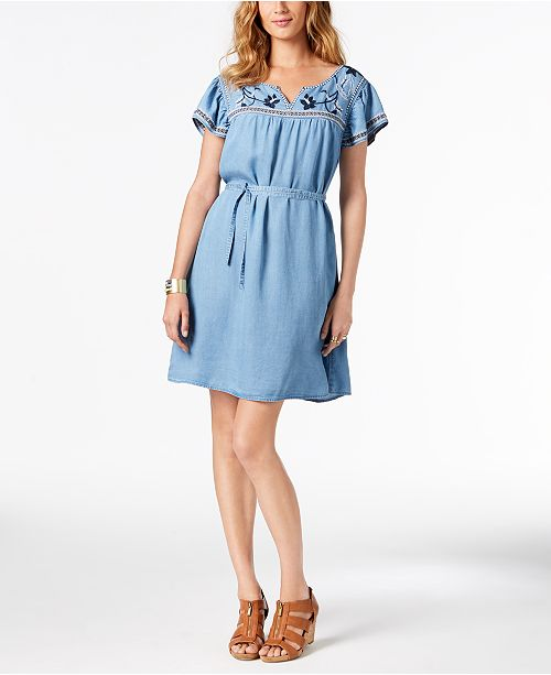 Beachcomber Flare amp; Dress Macy's for amp; Embroidered Created Co Style Fit CRUvw1vq