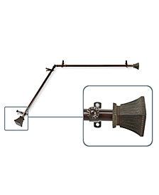 "Rod Desyne Trumpet 13/16"" Corner Window Curtain Rods"