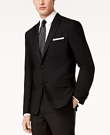 DKNY Men's Slim-Fit Black Tuxedo Suit Jacket