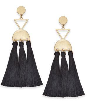 I.n.c. Gold-Tone Tassel Chandelier Earrings, Created for Macy's