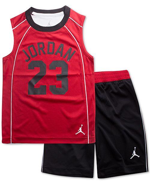 35bfdc344da921 Jordan. Little Boys 2-Pc. AJ 23 Flight Musle Tank Top   Shorts Set. Be the  first to Write a Review