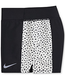 Nike Big Girls Printed Colorblocked Running Shorts