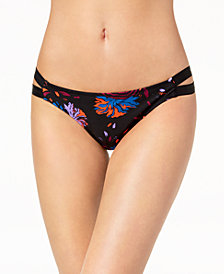 Volcom Juniors' Printed Strappy Hipster Bikini Bottoms
