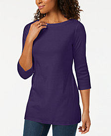 Karen Scott Cotton Boat-Neck Tunic, Created for Macy's