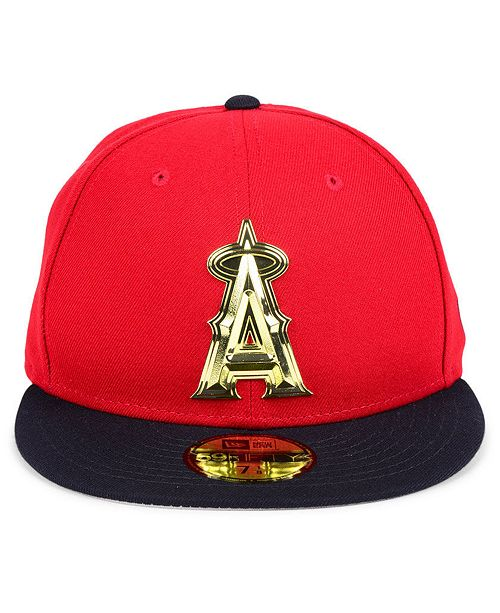 865772994bfdd ... spain new era. los angeles angels golden finish 59fifty fitted cap. be  the first