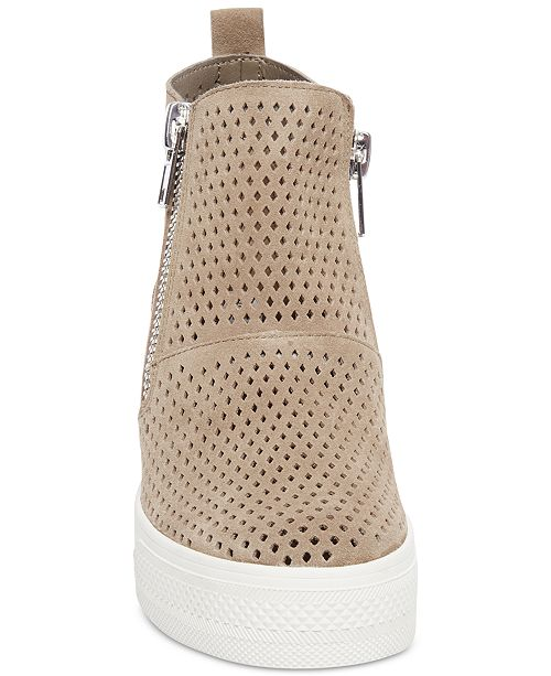 677c29a654 Steve Madden Wedgie Perforated Wedge Sneakers & Reviews - Athletic ...