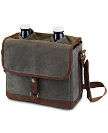 Picnic Time Insulated Double Growler Tote with 64-oz. Glass Growlers