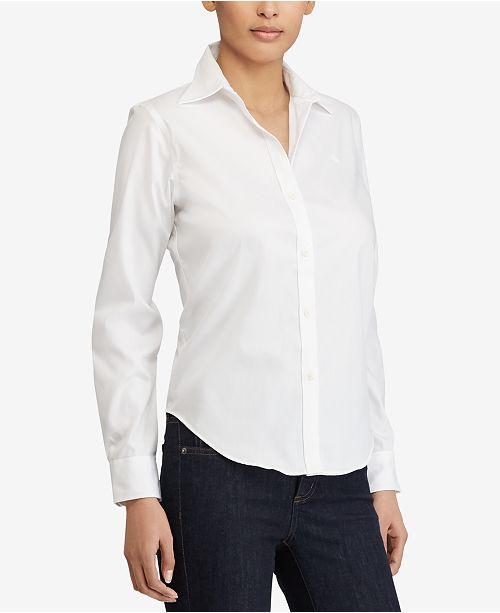 f41b0a76 Lauren Ralph Lauren Long-Sleeve Non-Iron Shirt & Reviews - Tops ...