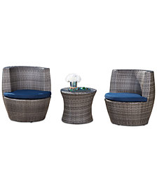 Suge 3-Pc. Outdoor Patio Bistro Set, Quick Ship
