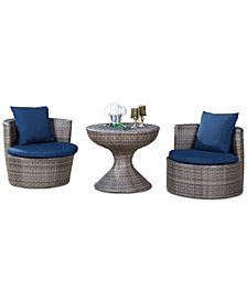 Romani 3-Pc. Outdoor Patio Seating Set, Quick Ship