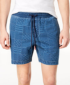 """Tommy Hilfiger Men's Stars & Stripes Patchwork Print 7"""" Drawstring Shorts, Created for Macy's"""