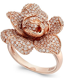 Pave Rose by EFFY Diamond Ring in 14k Rose Gold (1-1/8 ct. t.w.)