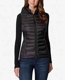 32 Degrees Plus Size Hooded Packable Down Vest