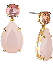 Carolee Gold-Tone Stone Drop Earrings