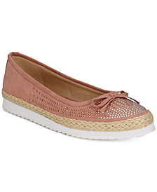 Callisto Pringle Slip-On Espadrille Flats