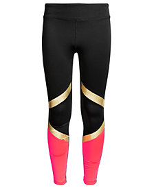 Ideology Big Girls Plus Colorblocked Leggings, Created for Macy's