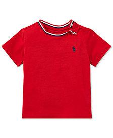 Ralph Lauren Crew-Neck Cotton T-Shirt, Baby Boys