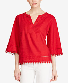 Lauren Ralph Lauren Petite Relaxed Fit Linen Top