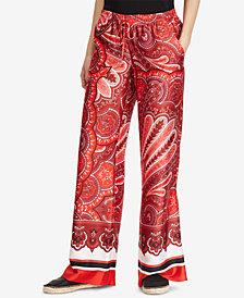 Lauren Ralph Lauren Petite Paisley-Print Wide-Leg Pants