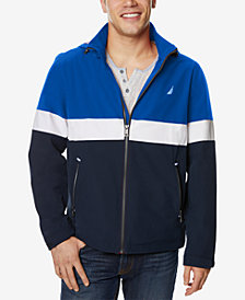 Nautica Men's Colorblocked Full-Zip Hooded Jacket
