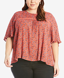 Eyeshadow Trendy Plus Size High-Low T-Shirt