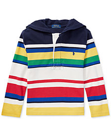 Ralph Lauren Little Boys CP-93 Striped Cotton Rugby Hoodie