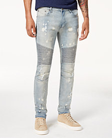 Reason Men's Slim-Fit Moto Jeans