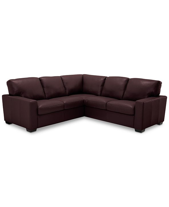 Furniture Ennia 2-Pc. Leather Sectional Sofa, Created for Macy's