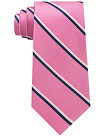 Club Room Men's Adam Twill Stripe Silk Tie, Created for Macy's