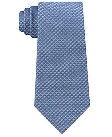Calvin Klein Men's Dual Houndstooth Slim Silk Tie
