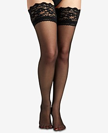 Women's  French Lace Top Thigh High Pantyhose 1363